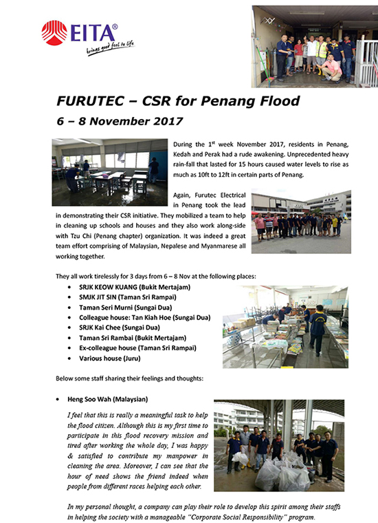 Furutec - CSR - Penang Flood-1